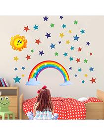 Fashion S-30*60cm Rainbow Stars Sun Children S Room Removable Wall Sticker