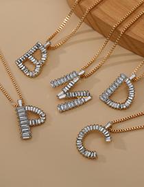 Fashion Z Alloy Diamond Letter Necklace