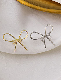 Fashion Gold (single) Hollow Butterfly Combined With Gold Non-pierced Ear Clip