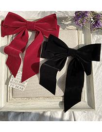 Fashion Black Bow Hairpin
