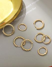 Fashion 1.3cm Twist Type Hemp Wreath Alloy Round Earrings