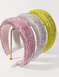 Banda Para El Cabello De Color Sólido De Ala Ancha Con Diamantes De Esponja