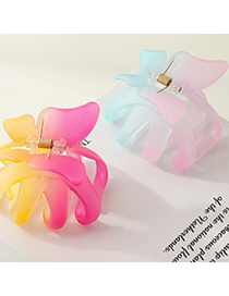 Fashion Rose Yellow Butterfly Resin Gradient Gripper