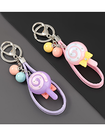Purple Glowing Lollipop Car Keychain