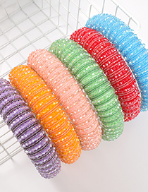 Silver Color Acrylic Wide Brim Sponge Crystal Beaded Headband