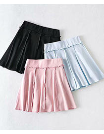 Fashion Black Reverse Loose Pleated A-line Skirt