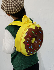 Fashion Donut Yellow Donut Print Kids Backpack