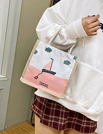 Fashion Guofeng Cotton And Linen Pattern Portable Shoulder Bag