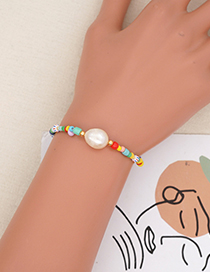 Fashion Section 2 Colorful Rice Beads Beaded Pearl Bracelet