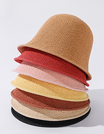 Fashion Korean Fan Lightweight Solid Color Woven Fisherman Hat