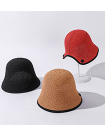 Fashion Korean Fan Solid Color Bucket Sun Hat