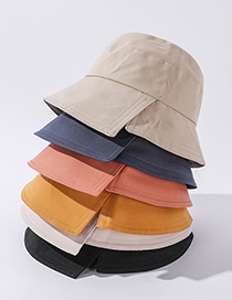 Fashion Beige Solid Color Sun Hat With Side Slits