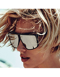 Fashion Sand Black/white Mercury Square Frame Sunglasses
