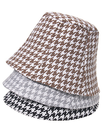 Fashion Brown Houndstooth Shade Fisherman Hat