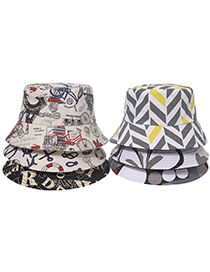 Fashion Section 6 Doodle Ship Anchor Digital Cartoon Print Fisherman Hat
