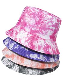 Fashion Rose Red Tie-dye Sunscreen Sunshade Fisherman Hat