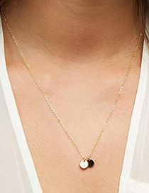 Fashion Rose Gold-4 Pieces Stainless Steel 6mm Round Pendant Necklace