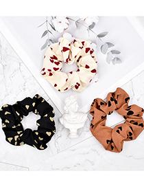 Fashion Caramel Colour Love Fabric Large Intestine Hair Tie