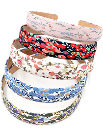 Fashion Bean Paste Pink Small Floral Fabric Flower Headband
