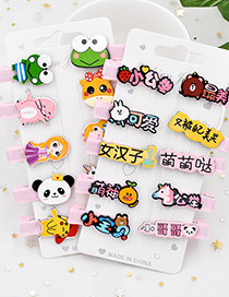 Fashion Personalized Text Cartoon Animal Small Text Children Hairpin