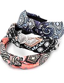 Fashion Pink Pattern Fabric Headband