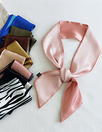 Fashion 9 Two-color Zebra Pattern Double-sided Two-color Long Silk Scarf Tied Bag