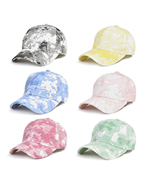 Fashion Tie-dye Green Tie-dye Visor Baseball Cap