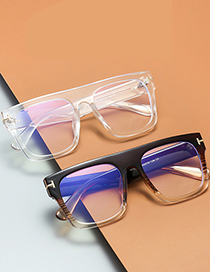 Fashion Leopard Print/anti-blue Light Metal Flat Anti-blue Glasses Can Be Equipped With Myopia