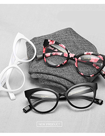 Fashion C5 White/transparent There Is A Lens Frame With Myopia Glasses