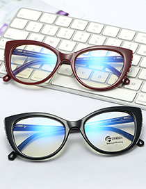 Fashion C7 Clear White/anti-blue Light Diamond-studded Anti-blue Light Flat Mirror Can Be Equipped With Myopia