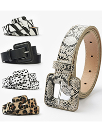 Fashion Cow Pattern Leopard Snake Belt