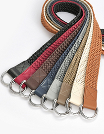Fashion Zhangqing Double Buckle Wax Rope Braided Belt