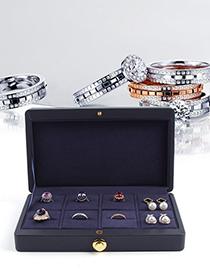 Fashion Pink Leather 8-bit Jewelry Storage Box