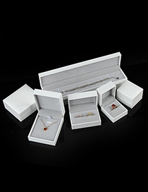 Fashion White Single Ring Box White Leather-filled Paper Storage Box