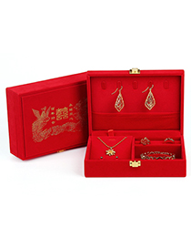 Fashion Small Jewelry Flannel Storage Wedding Box Packing Box