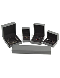 Fashion Dark Gray Single Ring Box Leather Jewelry Packaging Box