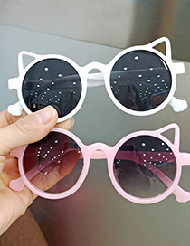 Fashion Bright Black All Gray Cat Ears Uv Protection Childrens Sunglasses