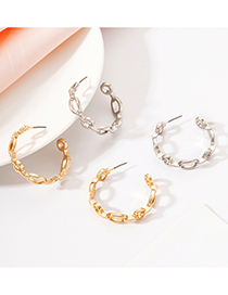Fashion Gold Color Alloy C Earrings