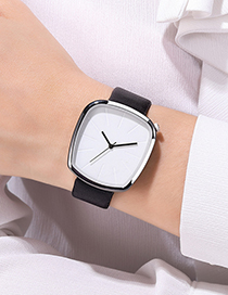 Fashion Silver Color Shell Brown With White Noodles Scale Face Quartz Watch