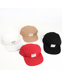 Fashion White Soft Top Flat Brim Baseball Cap