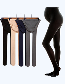 Fashion Grey With Feet (320d) Adjustable Belly Lift Velvet 320d Maternity Pantyhose