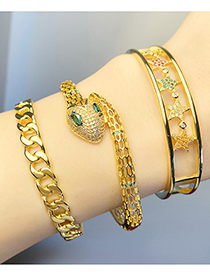 Fashion Chain Metal Snake-shaped Five-pointed Star Bracelet