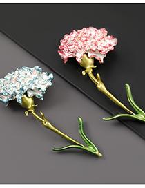 Fashion Pink Alloy Drop Oil Carnation Brooch