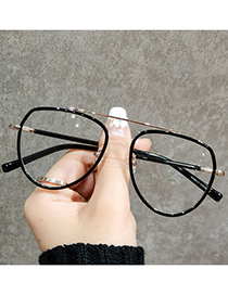 Fashion Gold Color Frame Transparent Powder Anti-blue Tr93 Single Beam Can Be Equipped With Myopia Flat Mirror