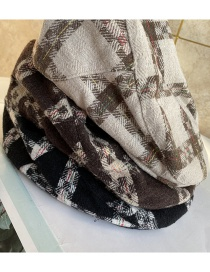 Fashion Beige Plaid Beret