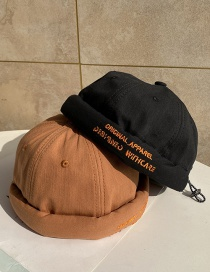 Fashion Caramel Letter Embroidered Landlord Hat