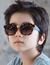 Fashion Pink/gradient Gray Shading Eye Protection Childrens Sunglasses