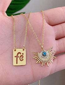 Fashion Golden Copper Letter Fe Necklace