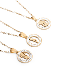 Fashion Virgin Mary Stainless Steel Zircon Maria Necklace