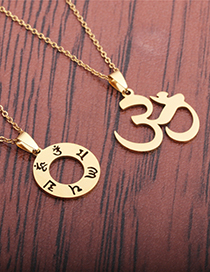 Fashion Mantra Aum Stainless Steel Necklace